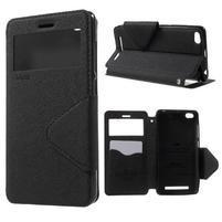 Diary view peňaženkové puzdro pre Xiaomi Redmi 3 - čierne