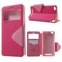Diary view peňaženkové puzdro pre Xiaomi Redmi 3 - rose