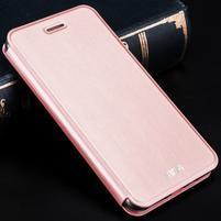 Vintage PU kožené pouzdro na Xiaomi Redmi 3 - růžové