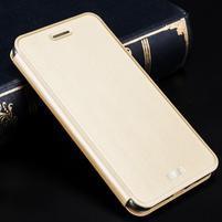 Vintage PU kožené pouzdro na Xiaomi Redmi 3 - zlaté