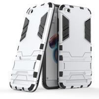 Defender odolný hybridný obal so stojančekom na Xiaomi Redmi 5A - strieborný