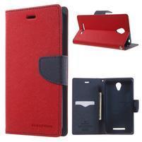 Goos PU kožené pouzdro na Xiaomi Redmi Note 2 - červené