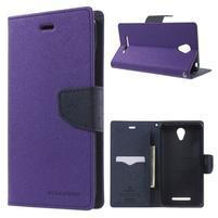 Goos PU kožené puzdro pre Xiaomi Redmi Note 2 - fialové