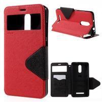 Diary pouzdro s okýnkem na mobil Xiaomi Redmi Note 3  - červené