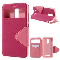 Diary pouzdro s okýnkem na mobil Xiaomi Redmi Note 3  - rose