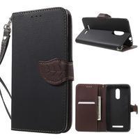 Leaf peňaženkové puzdro pre Xiaomi Redmi Note 3 - čierne