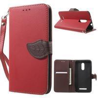 Leaf peněženkové pouzdro na Xiaomi Redmi Note 3 - červené