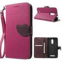 Leaf peňaženkové puzdro pre Xiaomi Redmi Note 3 - rose