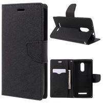 Wallet PU kožené puzdra na Xiaomi Redmi Note 3 - čierne