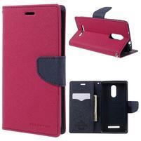 Wallet PU kožené puzdra na Xiaomi Redmi Note 3 - rose