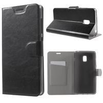 Horse peňaženkové puzdro pre Lenovo Vibe P1 - čierné