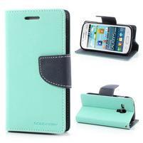 Diary puzdro pre mobil Samsung Galaxy S Duos / Trend Plus - azúrové