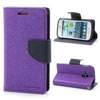 Diary puzdro pre mobil Samsung Galaxy S Duos / Trend Plus - fialové