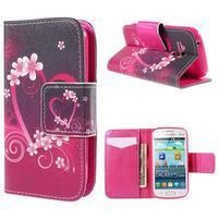 Peňaženkové puzdro pre Samsung Galaxy S Duos / Trend Plus -  srdca