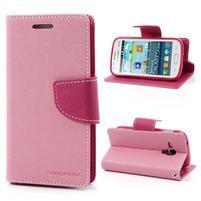 Diary puzdro na mobil Samsung Galaxy S Duos / Trend Plus - růžové