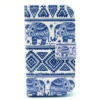 Peňaženkové púzdro na Samsung Galaxy S3 mini - slony