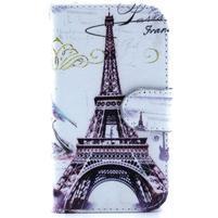 Peňaženkové puzdro na Samsung Galaxy S3 mini - Eiffelova veža