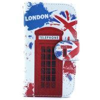 Peňaženkové puzdro na Samsung Galaxy S3 mini - londýnska búdka