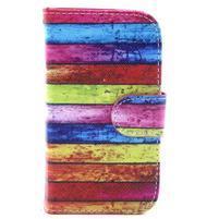 Peňaženkové puzdro na Samsung Galaxy S3 mini - farby dreva