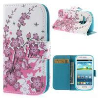 Puzdro pre mobil Samsung Galaxy S3 mini - kvitnúca vetvička
