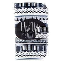 Peňaženkové puzdro na Samsung Galaxy S3 mini - Hakuna