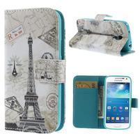 Peňaženkové puzdro pre Samsung Galaxy S4 mini - Eiffelova veža