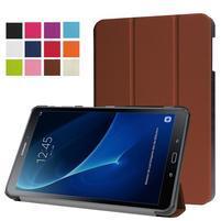 Trifold polohovatelné puzdro na Samsung Galaxy Tab A 10.1 (2016) - hnědé