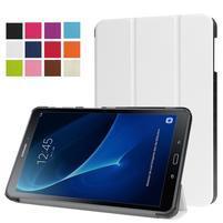 Trifold polohovatelné puzdro pre Samsung Galaxy Tab A 10.1 (2016) - bielé