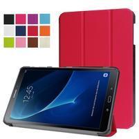 Trifold polohovatelné puzdro pre Samsung Galaxy Tab A 10.1 (2016) - červené