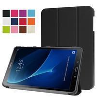 Trifold polohovatelné puzdro na Samsung Galaxy Tab A 10.1 (2016) - čierné