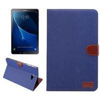 Jeans puzdro pre tablet Samsung Galaxy Tab A 10.1 (2016) - tmavomodré