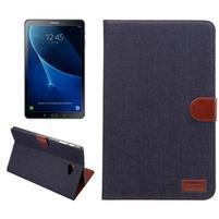Jeans puzdro pre tablet Samsung Galaxy Tab A 10.1 (2016) - čiernomodré