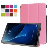 Trifold polohovatelné puzdro pre Samsung Galaxy Tab A 10.1 (2016) - ružové