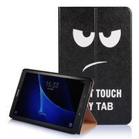 Picture polohovatelné puzdro na Samsung Galaxy Tab A 10.1 (2016) - nedotýkat se