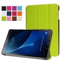 Trifold polohovatelné puzdro pre Samsung Galaxy Tab A 10.1 (2016) - zelené