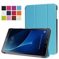 Trifold polohovatelné puzdro pre Samsung Galaxy Tab A 10.1 (2016) - svetlomodré