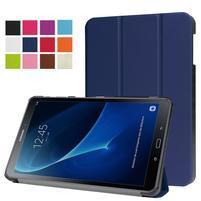 Trifold polohovatelné puzdro pre Samsung Galaxy Tab A 10.1 (2016) - tmavomodré