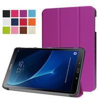 Trifold polohovatelné puzdro na Samsung Galaxy Tab A 10.1 (2016) - fialové