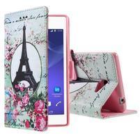 Peňaženkové puzdro pre mobil Sony Xperia M2 - Eifellova veža