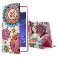 Peňaženkové puzdro pre mobil Sony Xperia M2 - mandala