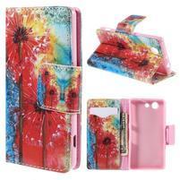 Puzdro pre mobil Sony Xperia Z3 Compact - malované púpavy