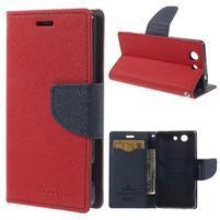 Diary Peňaženkové puzdro pre mobil Sony Xperia Z3 Compact - červené