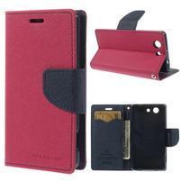 Diary Peňaženkové puzdro pre mobil Sony Xperia Z3 Compact - rose