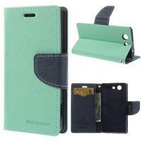 Diary Peňaženkové puzdro pre mobil Sony Xperia Z3 Compact - azurové