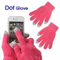 Touch dotykové rukavice pre mobil - ružové