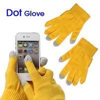 Touch dotykové rukavice pre mobil - žlté