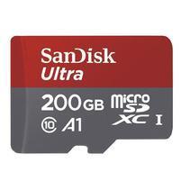 Vysokorychlostná pameťová karta SanDisk Ultra microSDHC 200 GB 80 MB/s Class 10 UHS-I, Android vratane SD adaptéru