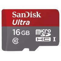Vysokorychlostná pameťová karta SanDisk Ultra microSDHC 16 GB 80 MB/s Class 10 UHS-I, Android vrátane SD adaptéru