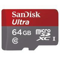 Vysokorychlostná pameťová karta SanDisk Ultra microSDHC 64 GB 98 MB/s Class 10 UHS-I, Android vratane SD adaptéru