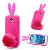 Silikonový obal na Samsung Galaxy S4 mini - rose králík